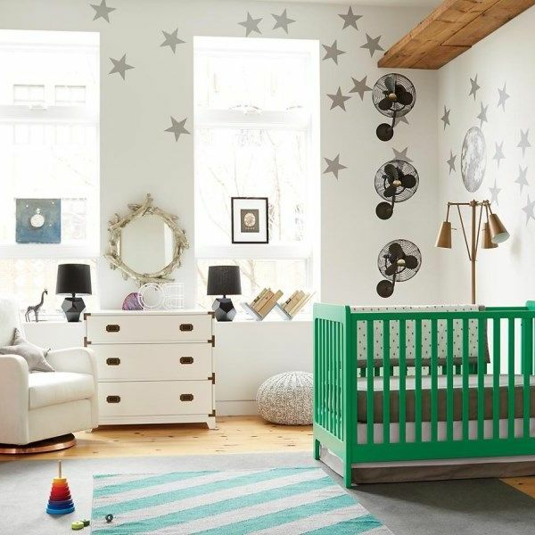 kinderzimmer weiß grün sterne Kinderzimmer u2013 Babyzimmer - babyzimmer sterne photo