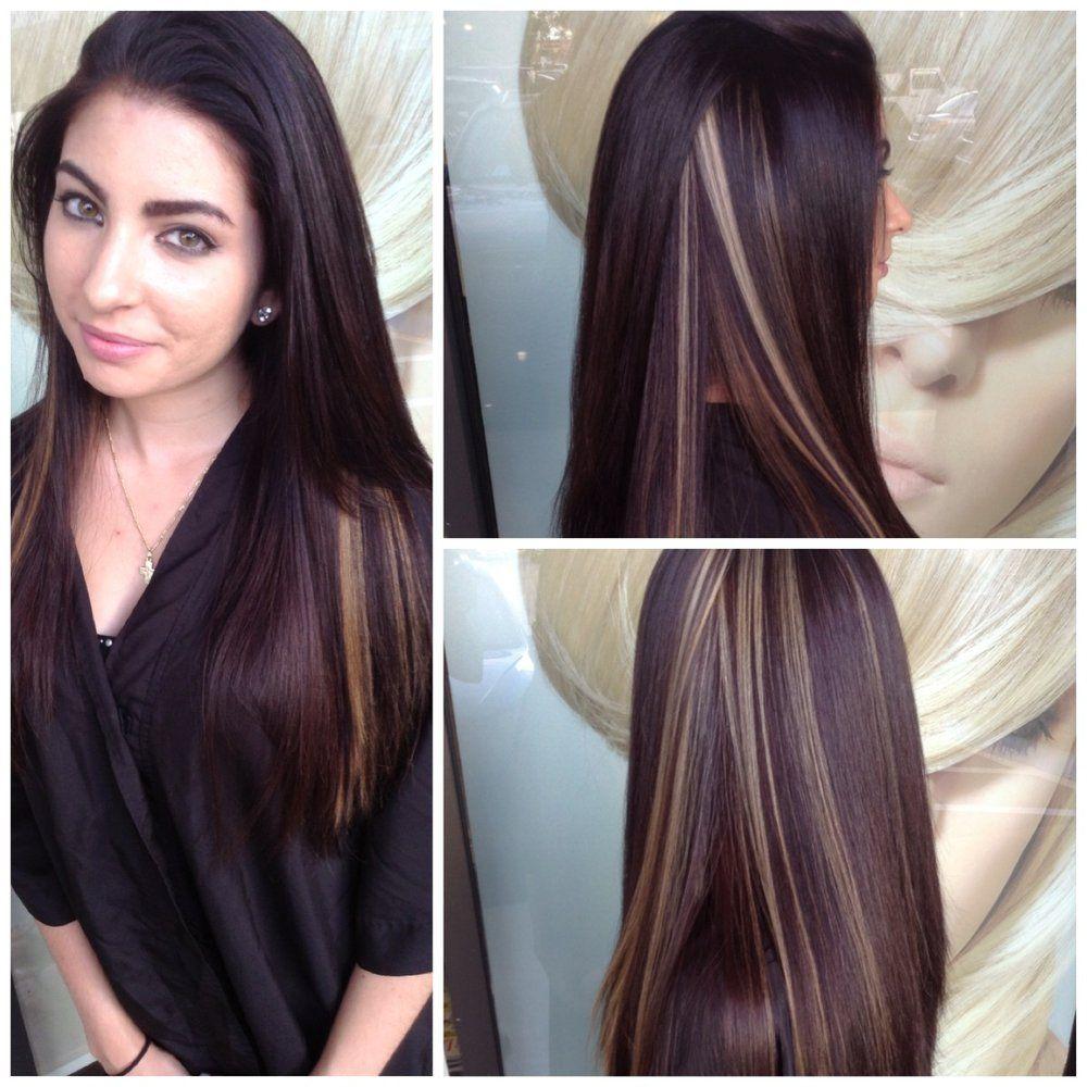 peek a boo highlights straight hair hair pinterest