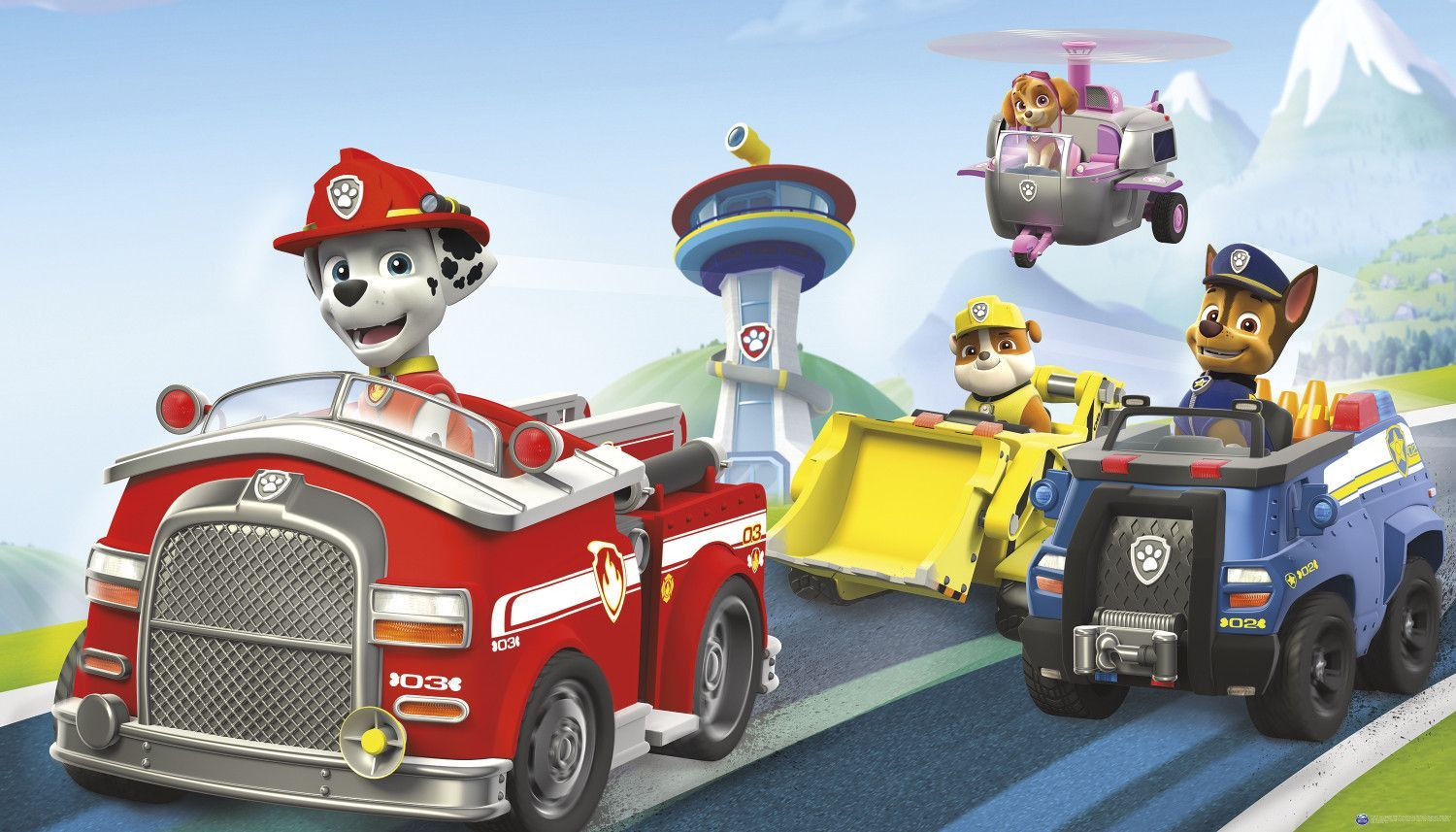 nickelodeon s paw patrol pups xl pre pasted surestrip wall mural nickelodeon s paw patrol pups xl pre pasted surestrip wall mural 10 5