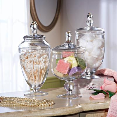 Rainbow torch lily exotic perennial jars glasses and for Bathroom apothecary jar ideas
