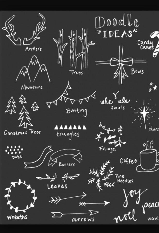 Exceptional Chalkboard Designs Part - 4: Rebekah Kroll | Christmas Decorations | Pinterest | Chalkboards, Doodles  And Bullet Journals