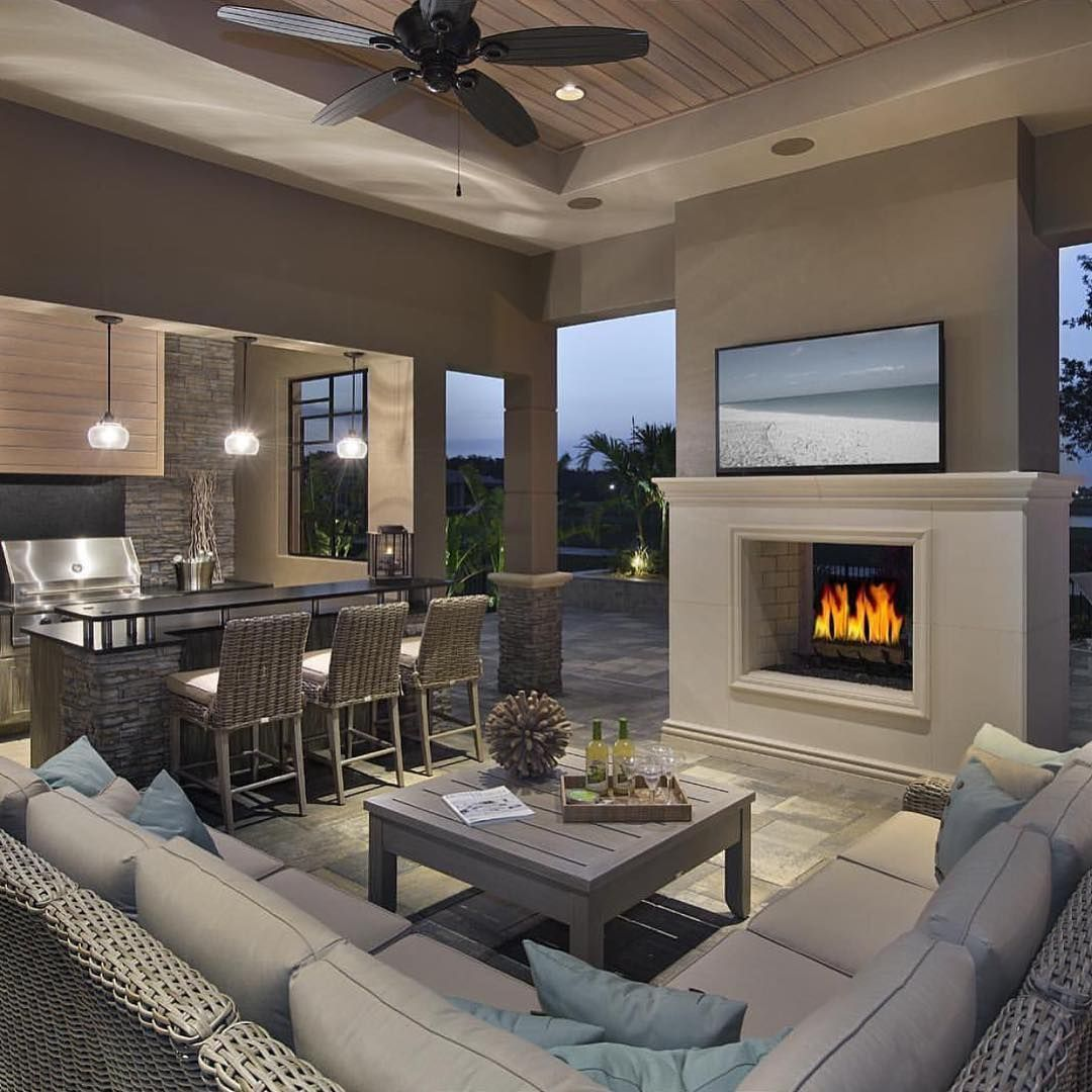 This is what I call luxury outdoor living #backpatio