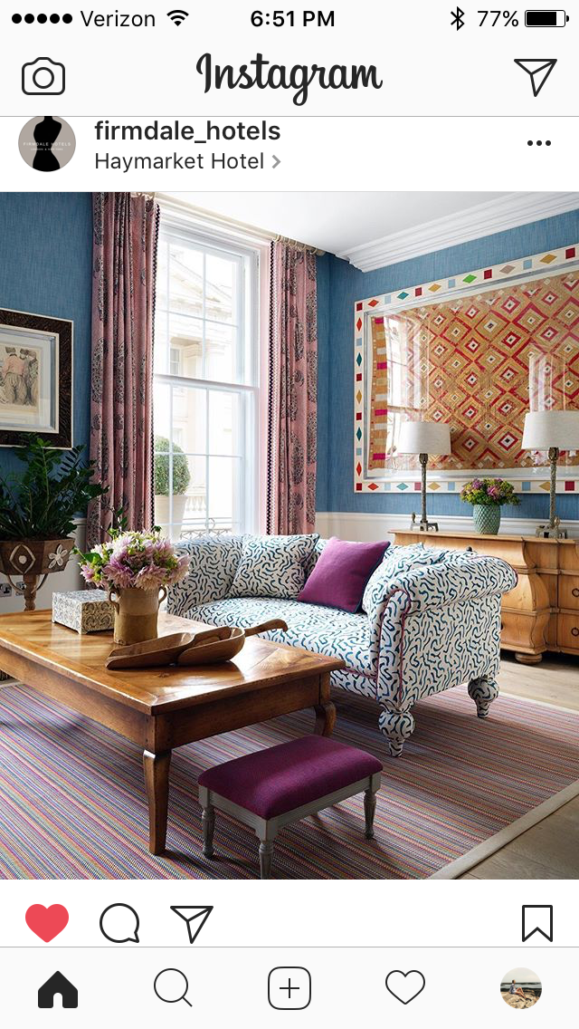 Kit kemp style- couch as wallpaper inspiration