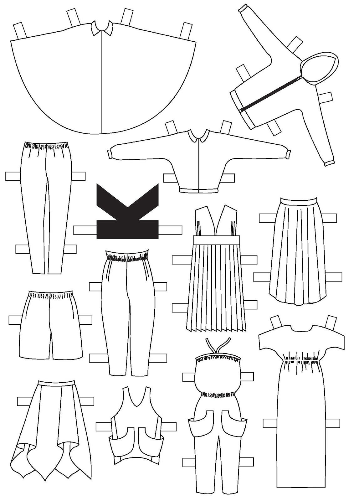 graphic relating to Paper Doll Clothing Printable titled Do-it-yourself Couture Paper Doll Clothes Template SEWING AND FIBER