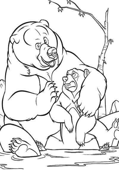 Big Bear Hug A Little Coloring Page