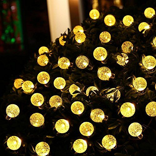 Blusow The World Solar String Lights Outdoor Lights, 20 Ft 30LED Fairy Lights Christmas Tree Ball Crystal Ball, Restore, Garden, Weddings, Queuing, And Holiday Decorations