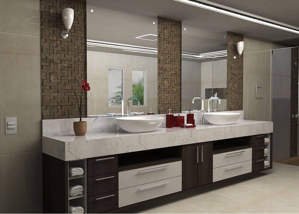banheiro planejado para apartamento  Pesquisa Google  Banheiros legais  Pi -> Banheiro Decorado Ap