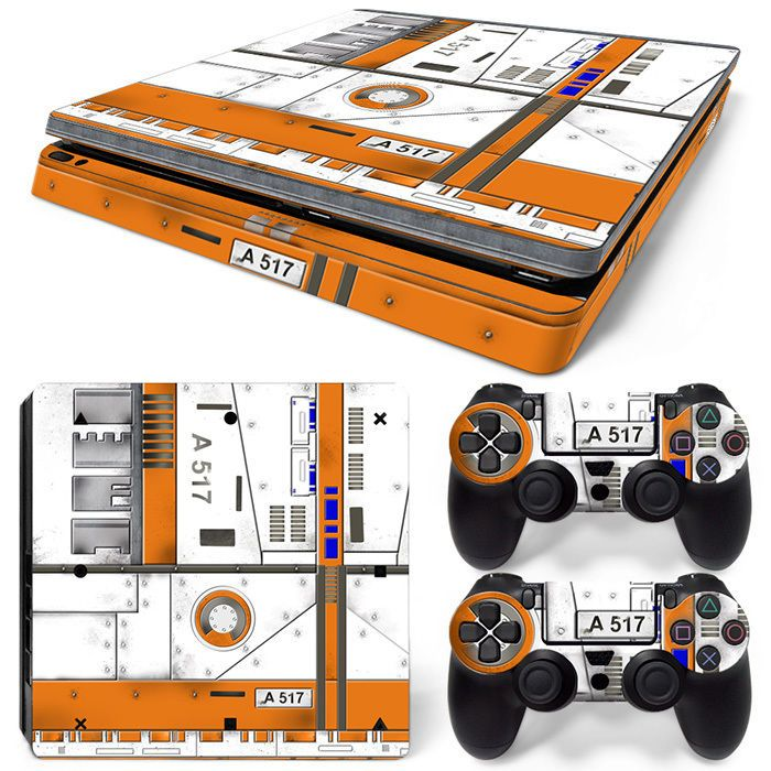PS4 Slim Playstation 4 Console Skin Decal Sticker Airplanes Board 747 Custom Set #ZoomHit