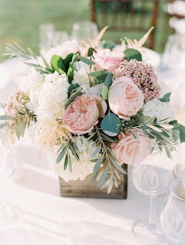 blush and greenery wedding centerpiece#wedding #weddings #weddingideas #pinkwedd...
