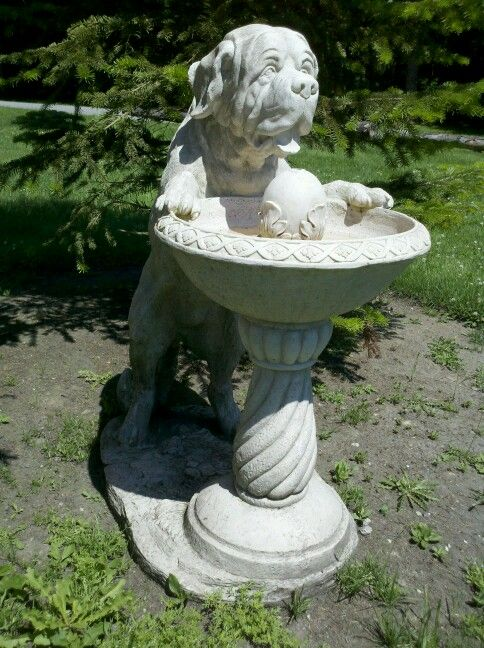 Mastiff Water Fountain I Want With Images Bird Bath
