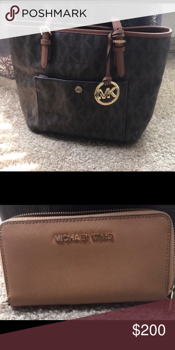 a189577df79f Michael Kors bag and wallet Bought in the New York City MK store. Brand  new! Michael Kors Bags Totes