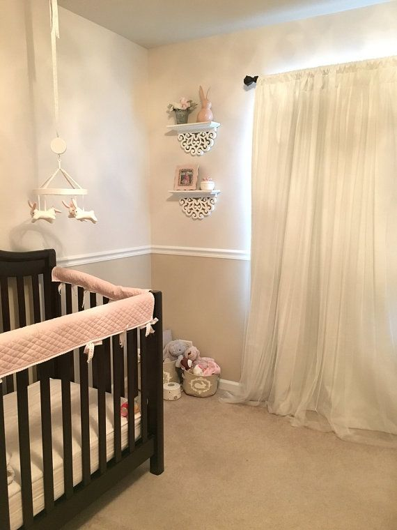 Custom Blackout Curtain -Sheer Bedroom Overlay White Panel Bed Canopy Drapes Kids Nursery Window Wall & Custom Blackout Curtain -Sheer Bedroom Overlay White Panel Bed ...