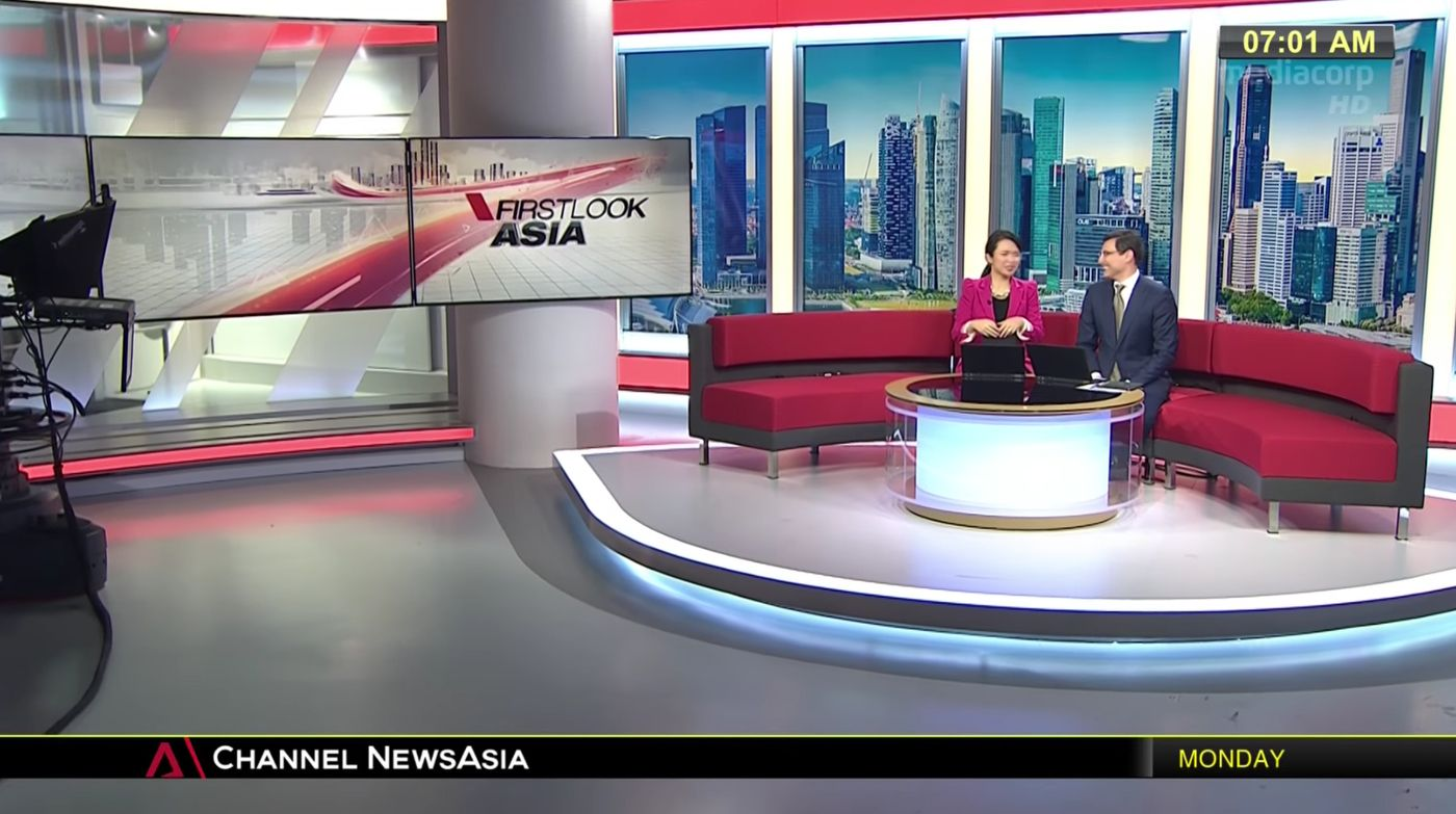 Channel NewsAsia Set Design Gallery | SRHS STUDIO | Design