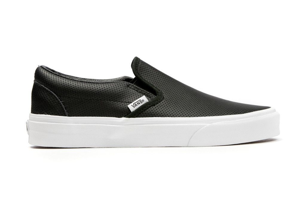 Vans Perf Leather Slip-On - Black || HAIR/OUTFIT: half up