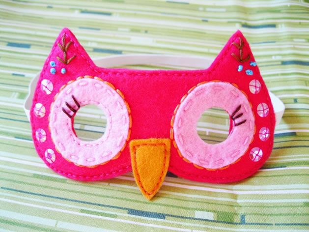 Owl mask @Jenn Moss ..I LOVE this one!  The bling just adds some extra ** to it!
