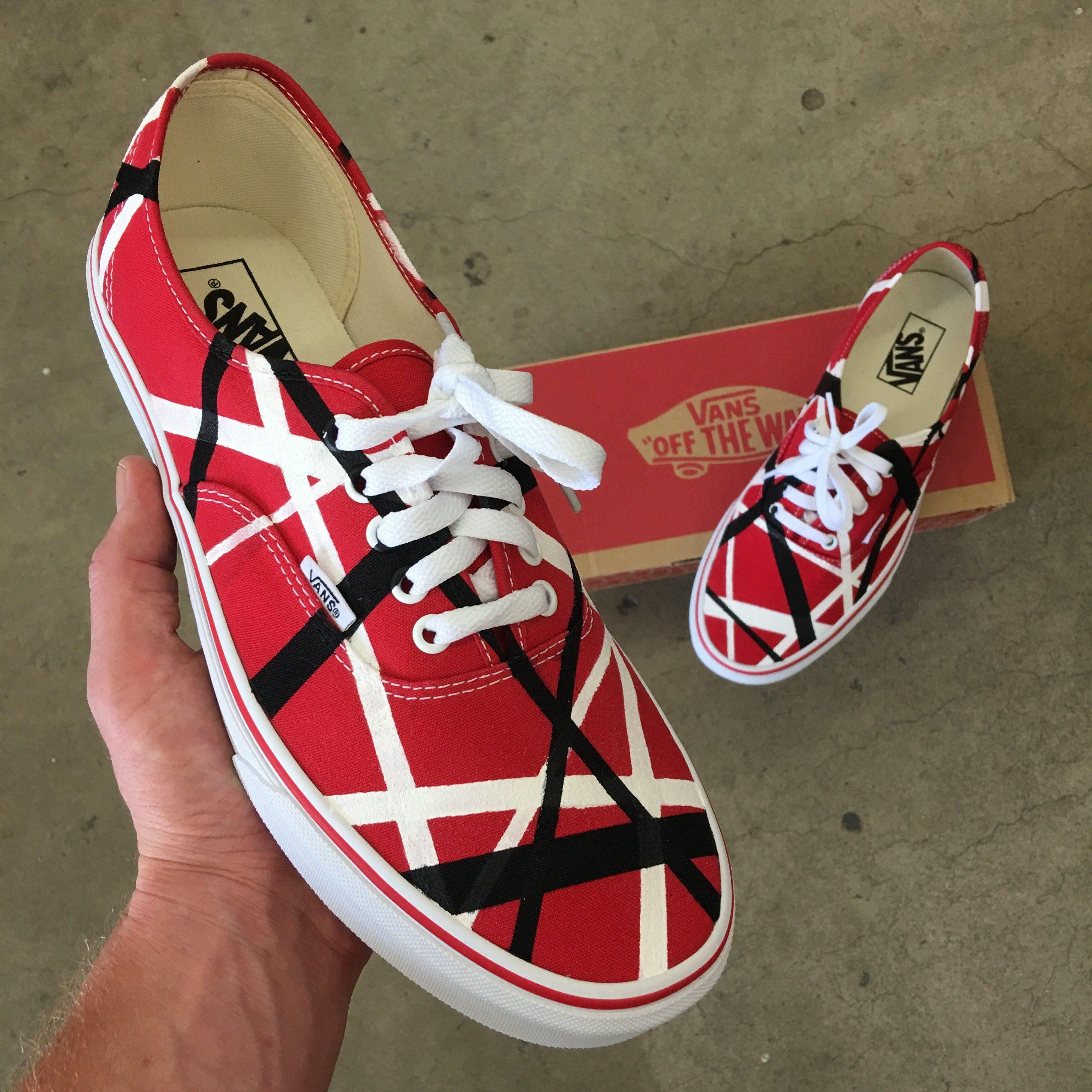Van Halen Theme Vans Authentic Shoes Vans Authentic Shoes Painted Shoes Painted Shoes Diy