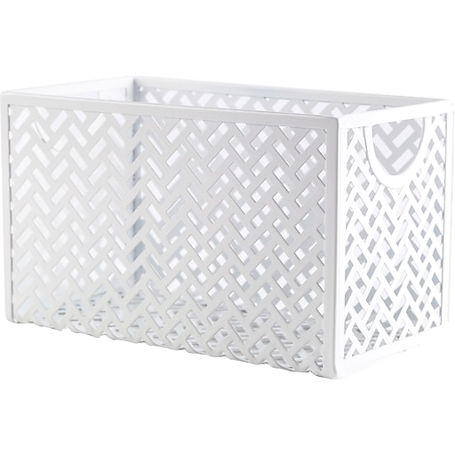 Staples® White Zigzag Storage Box (26845) at Staples in