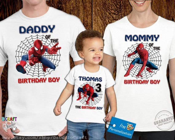 5aee7f7a Spiderman Birthday Shirt,Spiderman Custom and Personalized shirt,P028