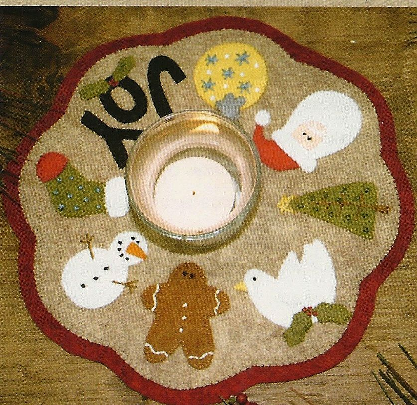 TEDDY BEARS CANDLE MAT EMBROIDERY SEWING PATTERN From Bareroots Patterns NEW