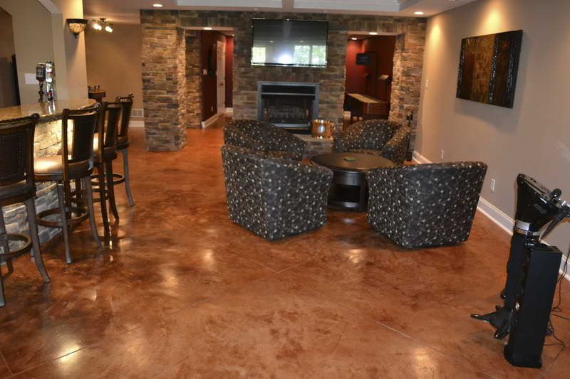 INTERIOR, Painting Concrete Floors: Saddle Brown