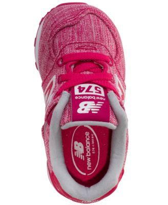 873c7987b6ce6 ... real new balance toddler girls 574 tux casual sneakers from finish line  pink white 3f58c 21602 ...