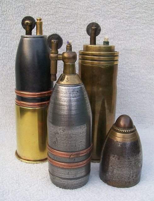 Trench Art : French 37 mm shell lighters