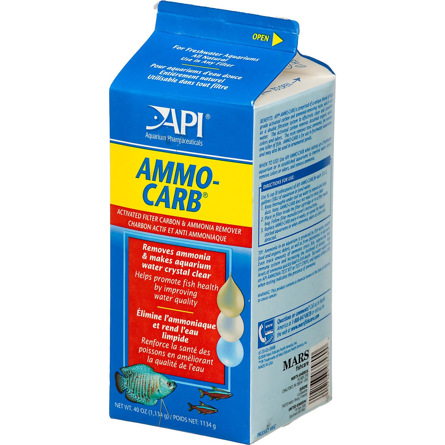 API Ammo-Carb Activated Filter Carbon & Ammonia Remover