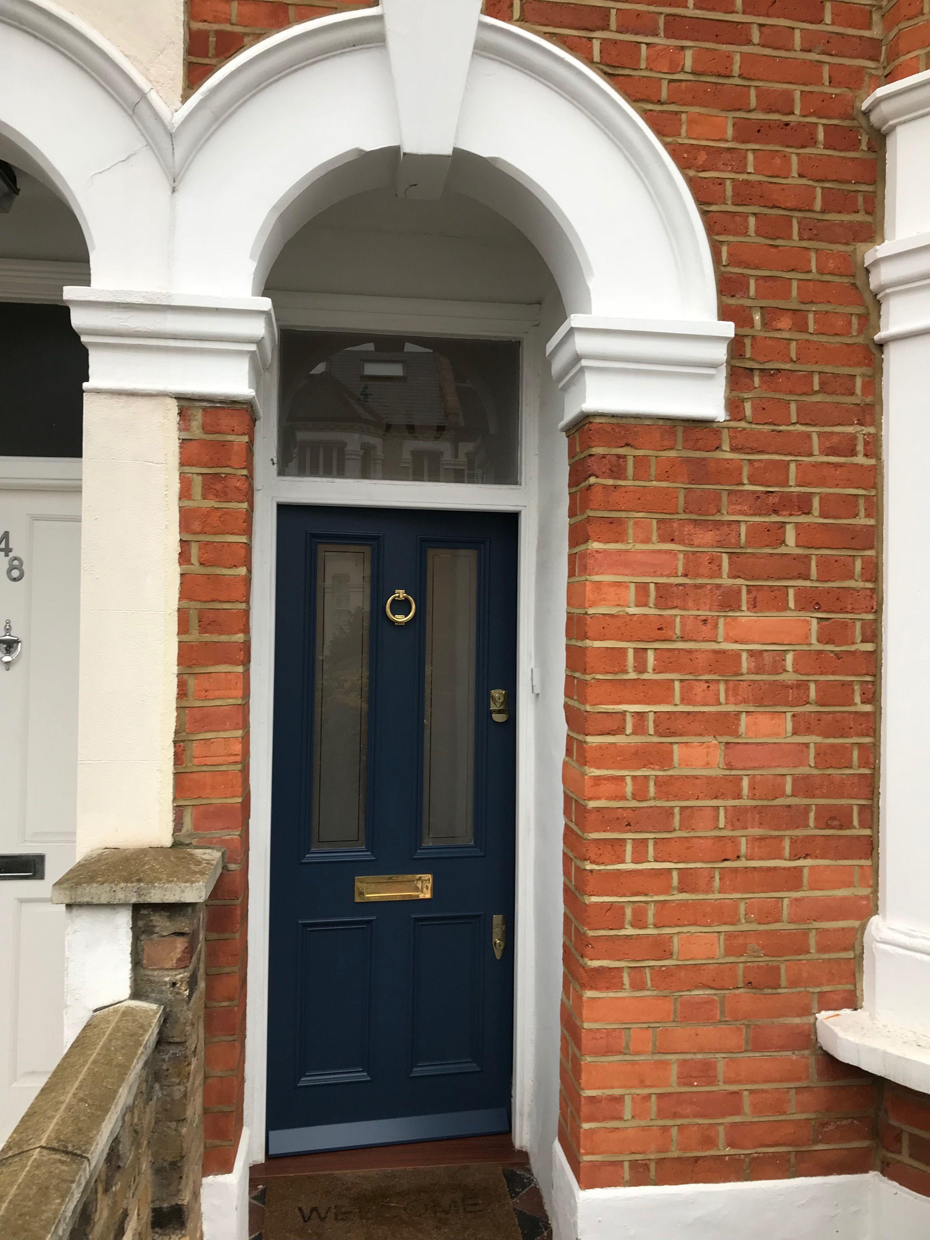 Stiffkey blue colour Victorian front door in south London ...