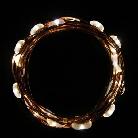 Amazon.com : Innoo Tech Warm White 2m/6.5ft 20 LED Copper wire String Lights Battery Operated for XMAS Christmas Tree Wedding Outdoor Party : Rope Lights : Patio, Lawn & Garden