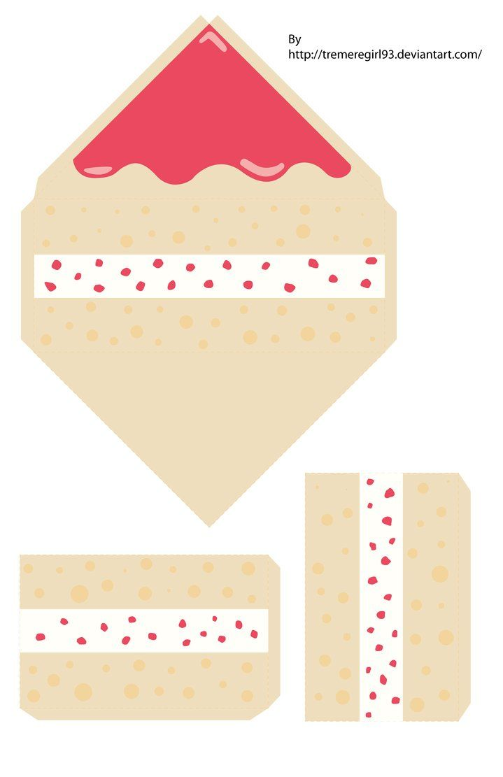 picture relating to Printable Cake Paper referred to as Strawberry Cake Papercraft by means of ~TremereGirl93 upon deviantART