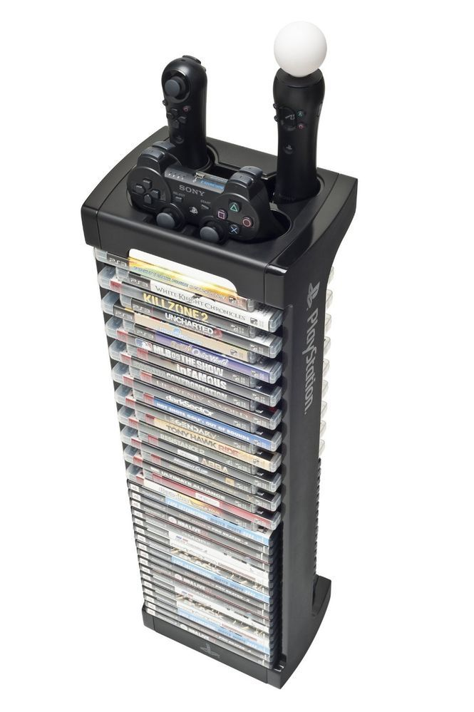 sony official games tower and charging station for ps4. sony playstation 4 and 3 \u0026 move game storage controller tower for 38 games official charging station ps4 r