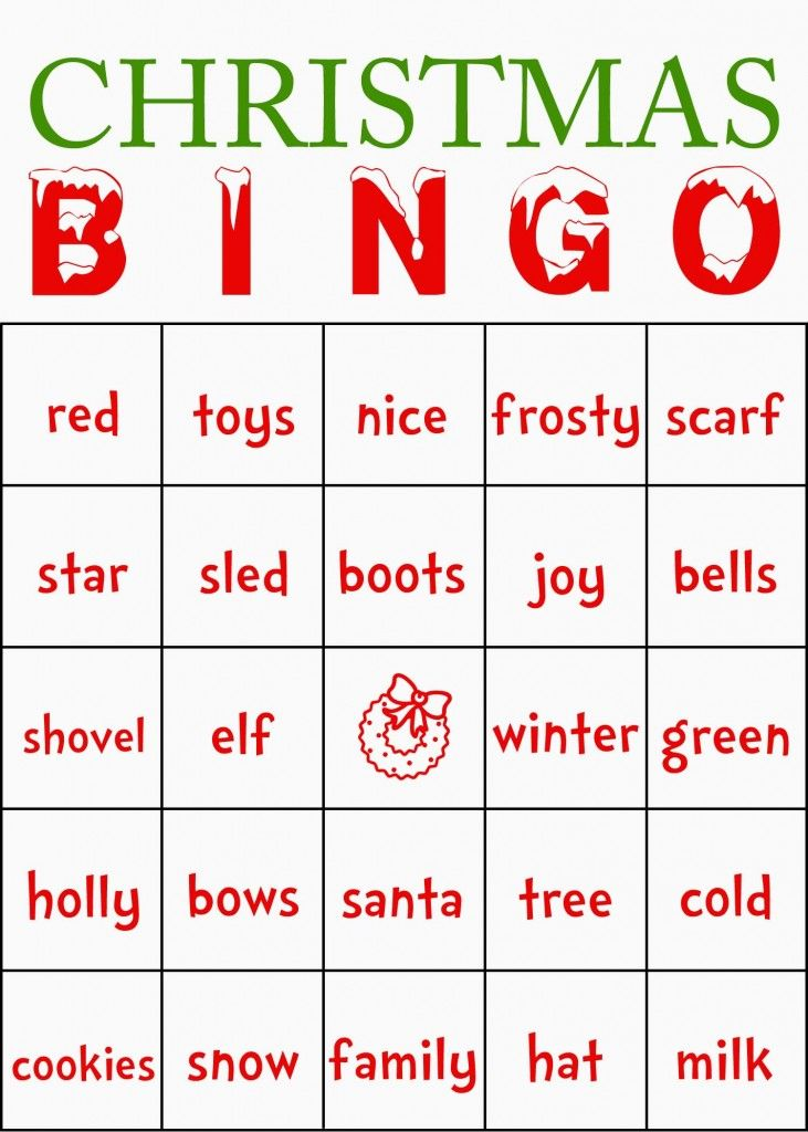 christmas bingo cards with numbers
