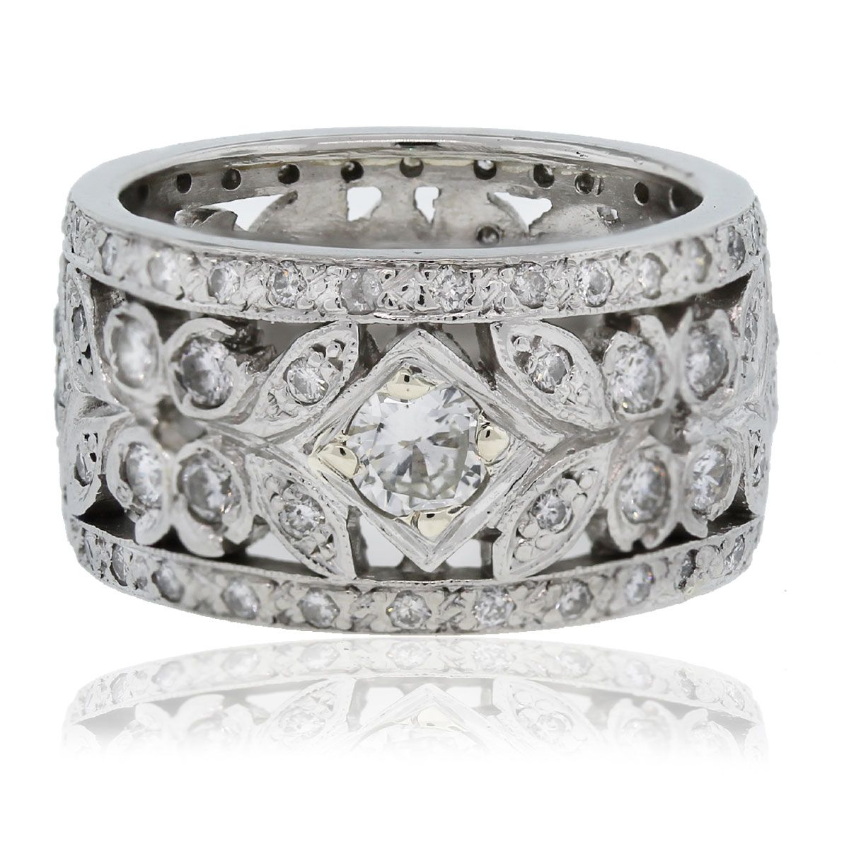 statement band wide cz faux diamond sparkles silver silvertone cluster beloved cocktail zirconia tina carat paved cubic ring eternity products bands
