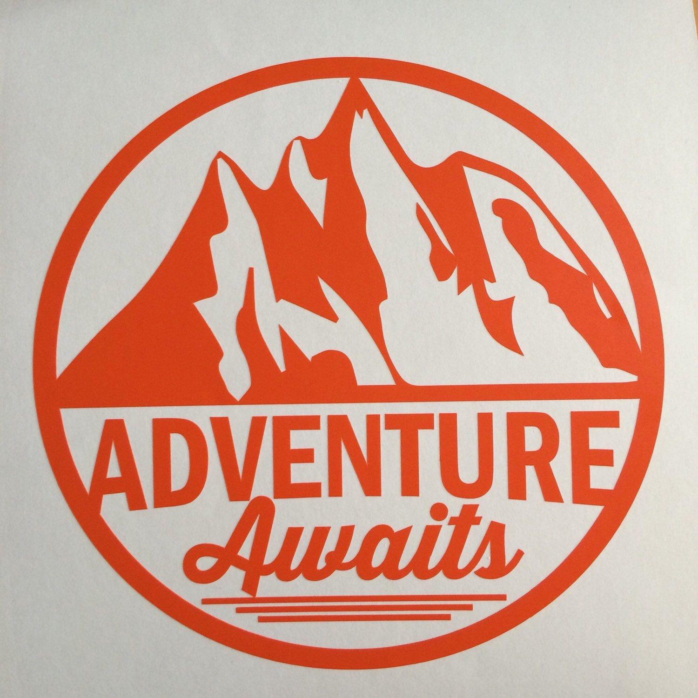 Mountain sticker adventure awaits wall sticker