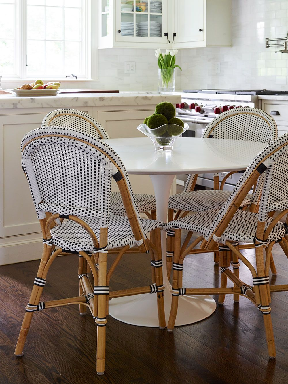 Classic White Kitchen With Cheerful Seating Area Serena And Lily