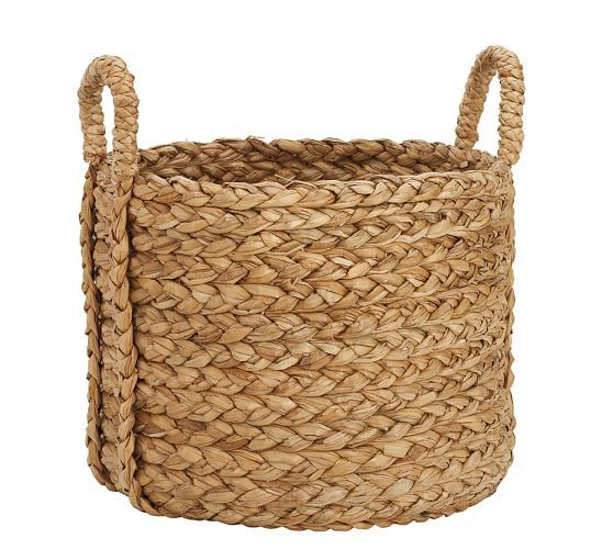 Beachcomber Handwoven Seagrass Basket Collection Pottery Barn Baskets Basket Round Basket