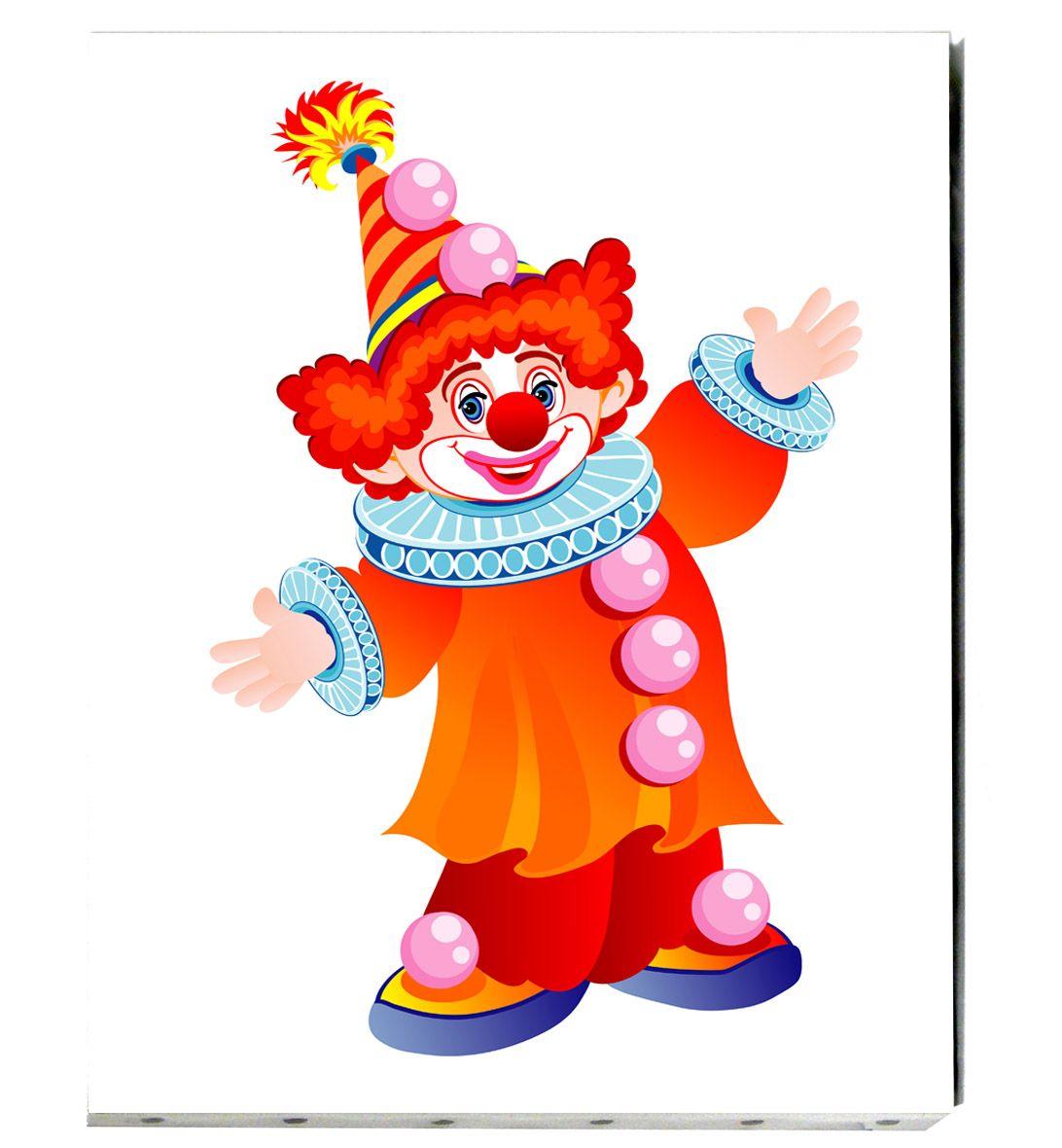 tableau de toile tendue pour enfant le clown joyeux clowns pinterest clip art and craft. Black Bedroom Furniture Sets. Home Design Ideas
