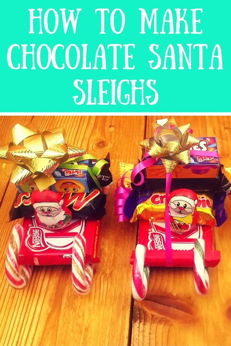 How to make a Cute Chocolate Santa Sleigh: DIY Stocking