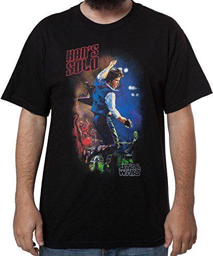 9d1e63d88 Men's Star Wars Han Solo Rock Star T-Shirt Black 3XL Fifth Sun http: