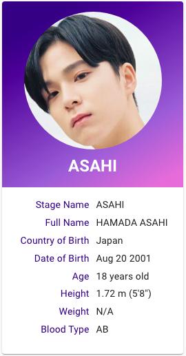 Hamada Asahi Treasure Profile Treasures Asahi Kpop Profiles