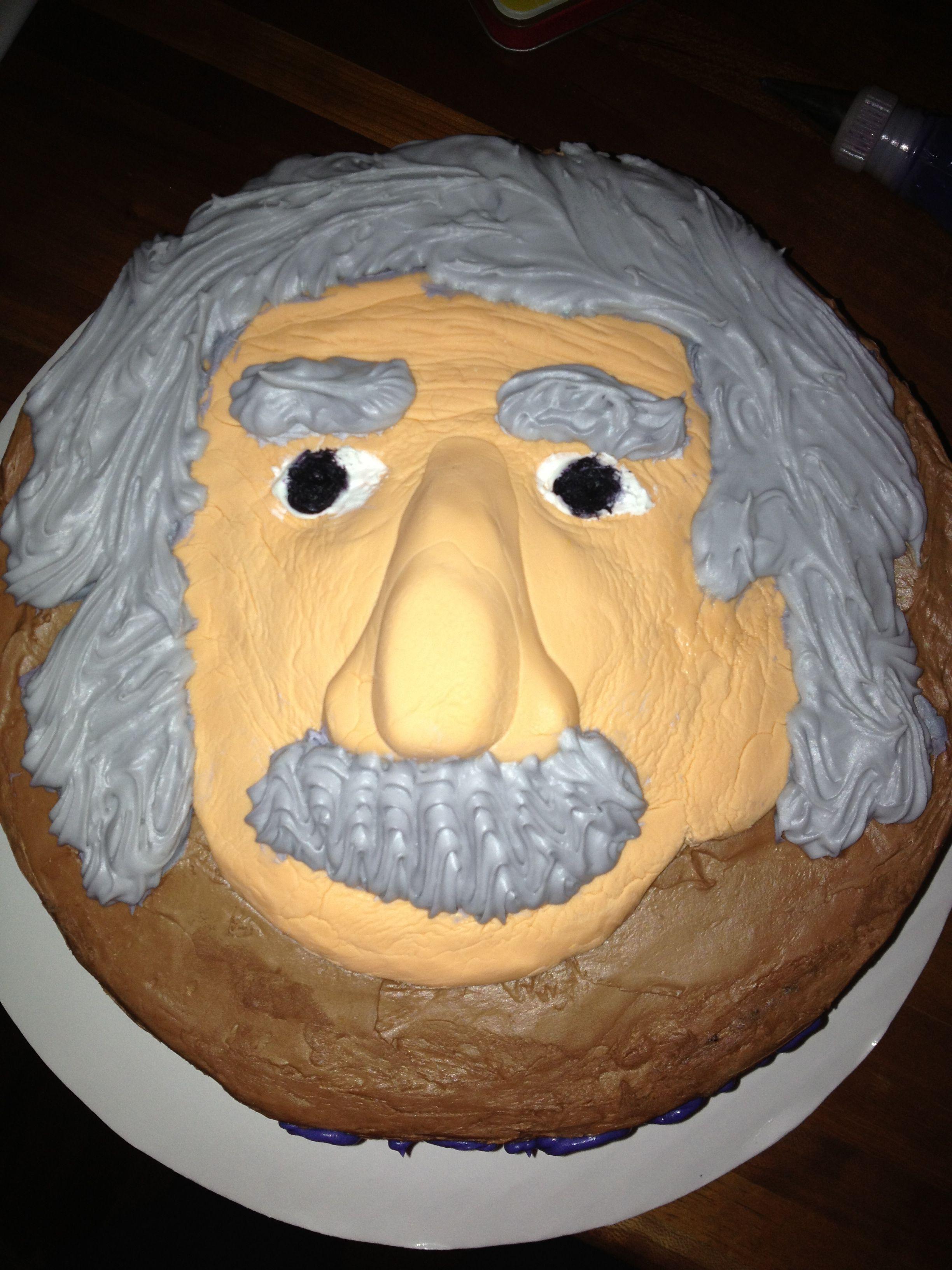 Albert Einstein Cake Science Cake Cake Albert Einstein Birthday