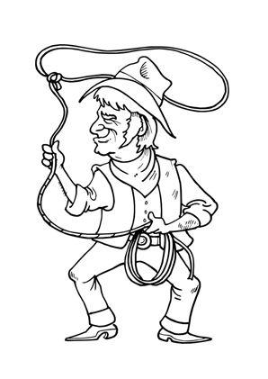 cowboy mit lasso in 2020 | ausmalen, ausmalbilder, ausdrucken