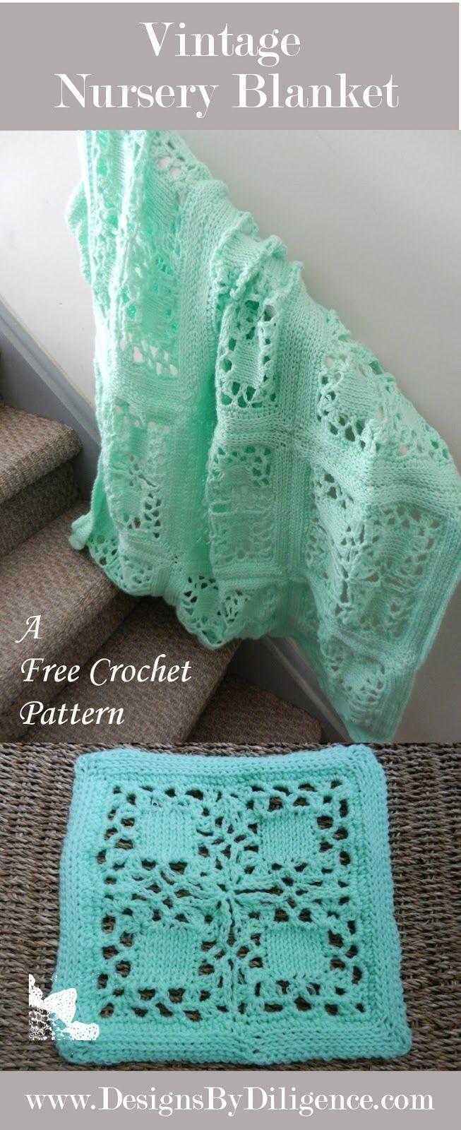 Designs by Diligence: Vintage Nursery Blanket: FREE #crochet pattern ...