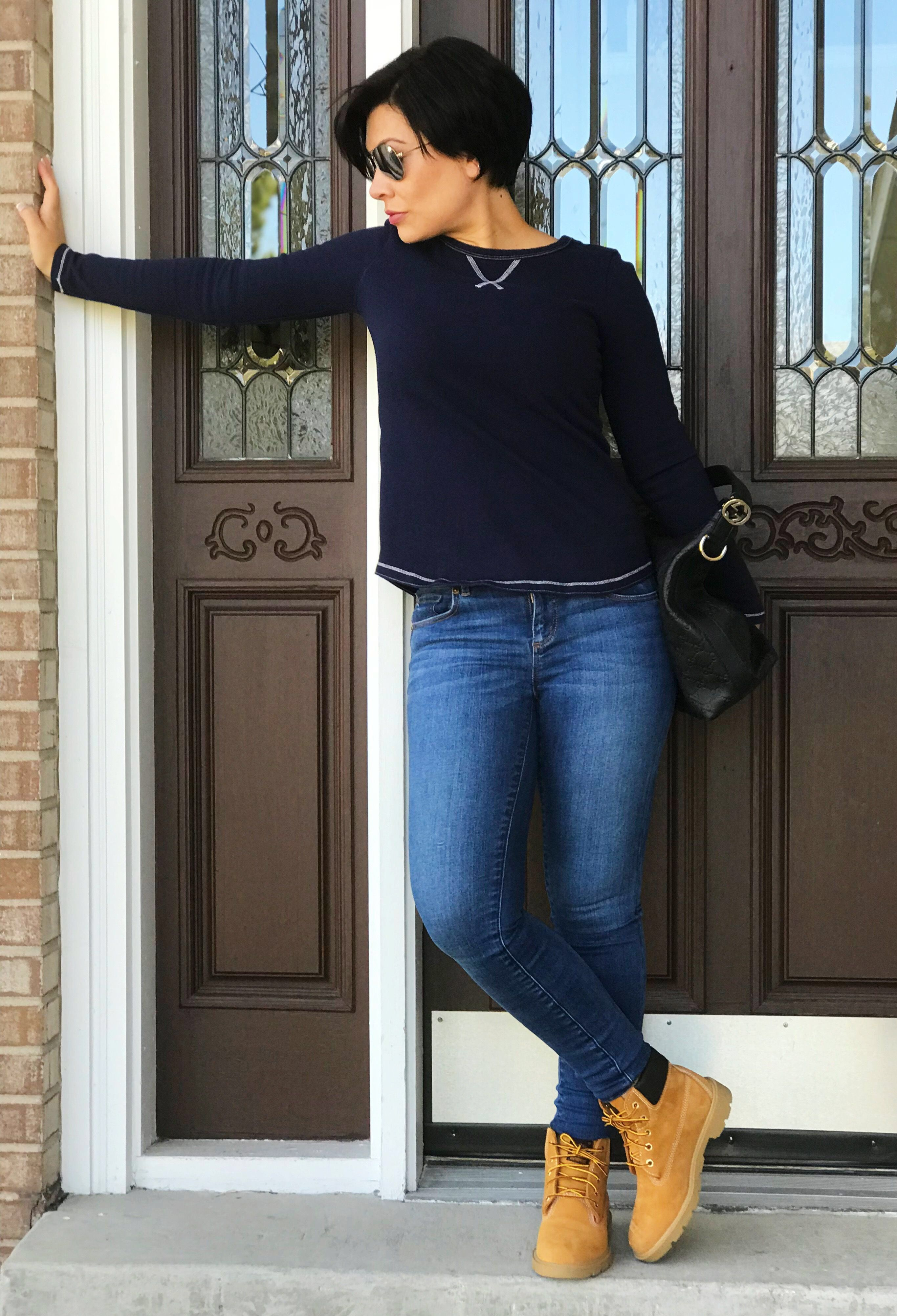 4227a1e16c9f4d Fall Outfit Timberland Outfits