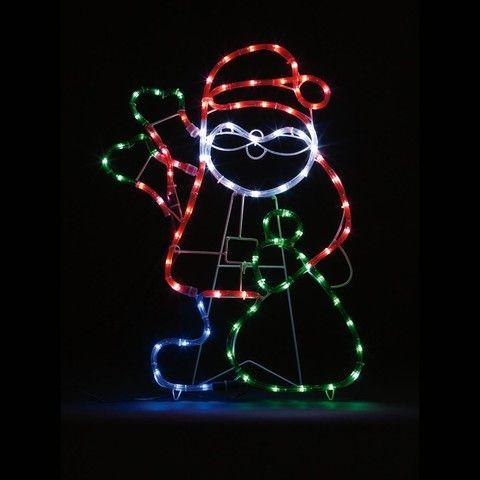 Waving santa rope light 90 led lights kmart deck the halls generic error aloadofball Images