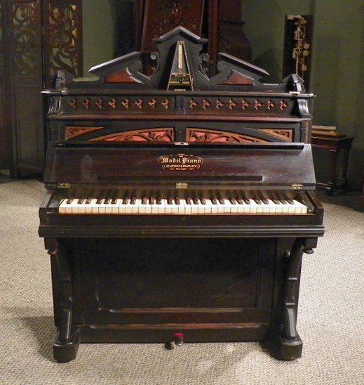 Rare model brand victorian boudoir size upright piano for What are the dimensions of an upright piano