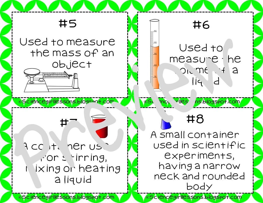 Science Tools Task Cards