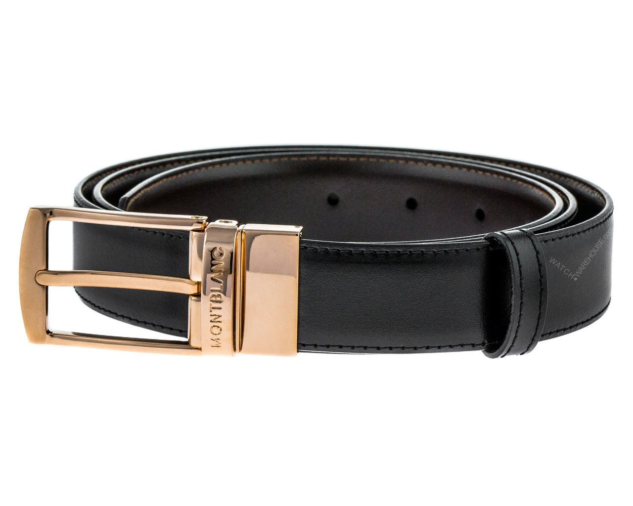 Montblanc Casual Line Gold Plated Reversible B/B Leather