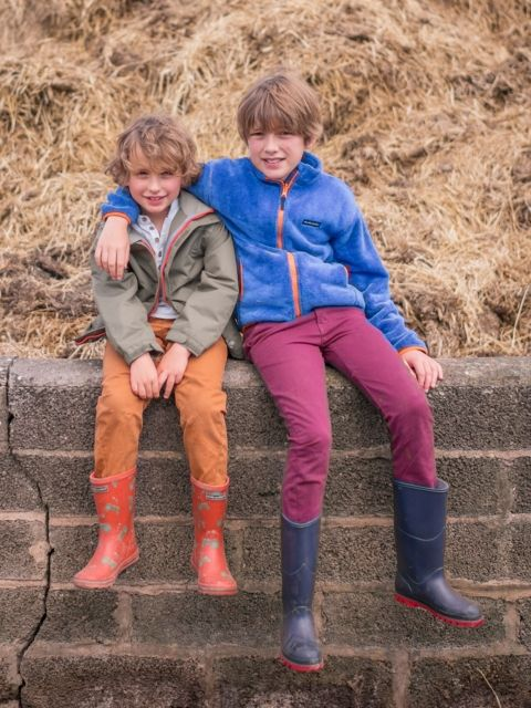 Boys 3 in 1 Explorer Jacket  Designed to last from autumn through to spring with a cosy warm zip out fleece and extremely waterproof outer jacket this is the perfect all season jacket for young explorers. #haybales #farm #playing #friends #tractor #wellies