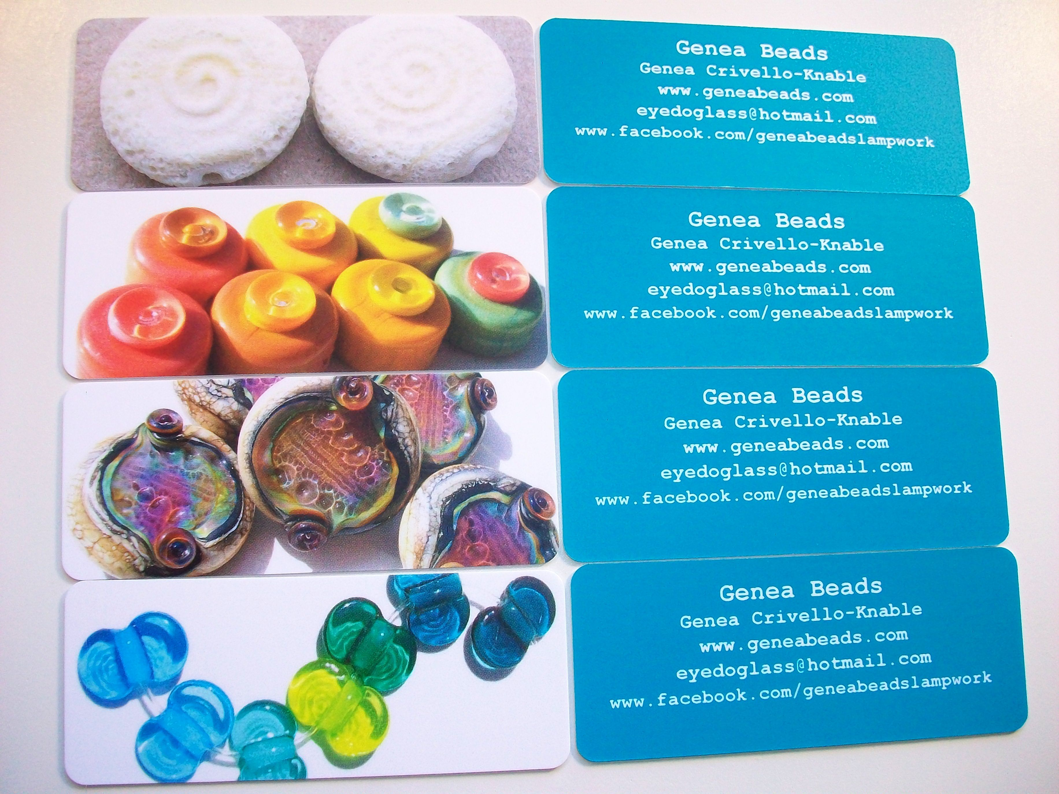 My new mini moo rounded corner business cards :D | Genea Beads ...
